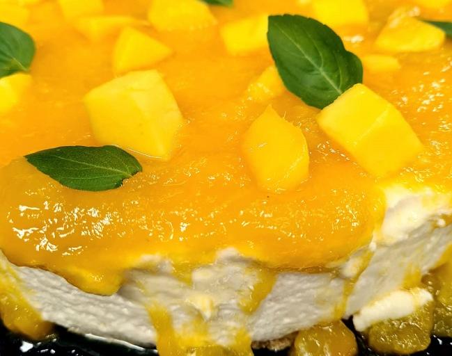 Cheesecake com geleia de manga e gengibre | Band Receitas