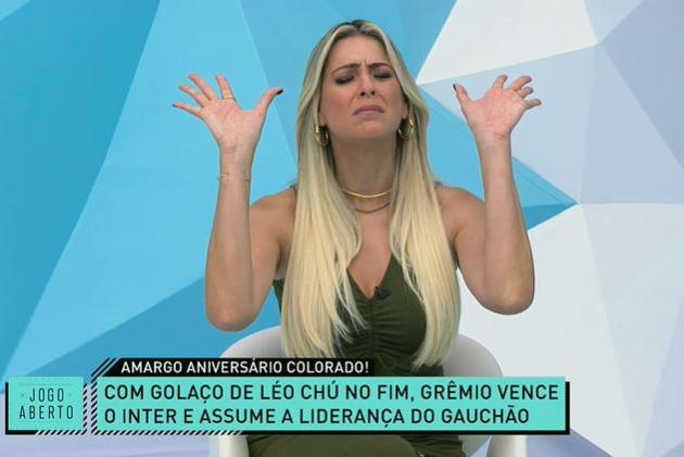Renata Fan é provocada após derrota no Gre-Nal e corneta Ramírez