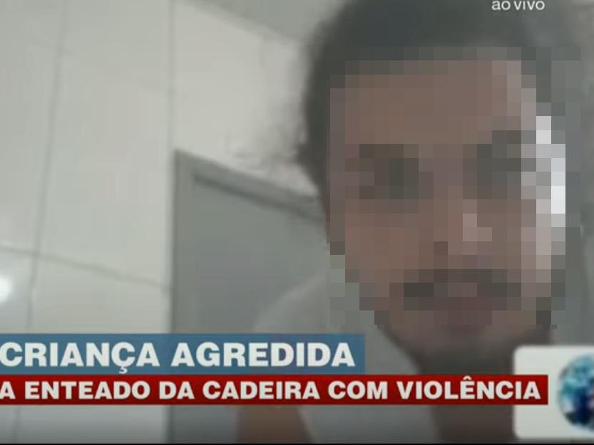 Homem é filmado agredindo enteado durante aula online no RS