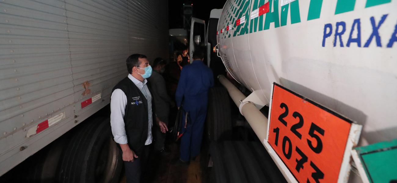 Carga com 70 mil metros cúbicos de oxigênio chega a Manaus