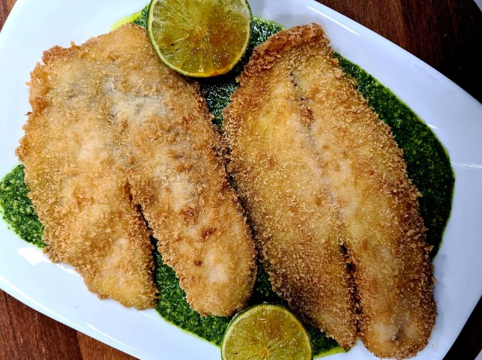 Peixe à milanesa na panko: faça a receita do Leandro Jensen