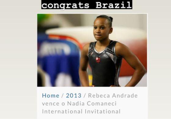 """Rebeca Andrade ganha parabéns da lenda Nadia Comaneci: """"você fez história"""""""