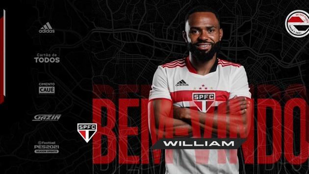 São Paulo anuncia o meio-campista William, ex-Palmeiras