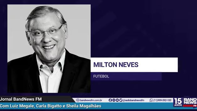 Milton repercutiu na BandNews FM o título rubro-negro no Brasileirão