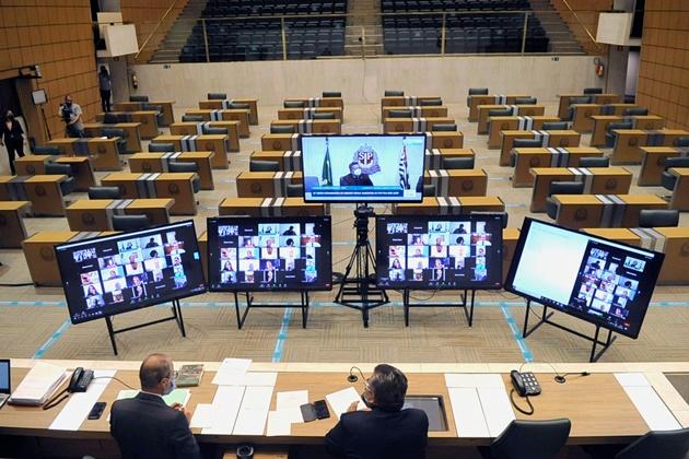 Votação virtual de projeto sobre compra de vacinas na Assembleia Legislativa do Estado de São Paulo