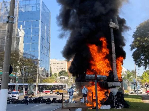 Polícia Civil prende suspeito de incendiar estátua de Borba Gato em São Paulo
