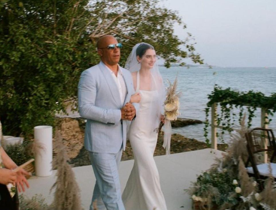 Vin Diesel, estrela de Velozes e Furiosos, acompanha filha de Paul Walker ao altar