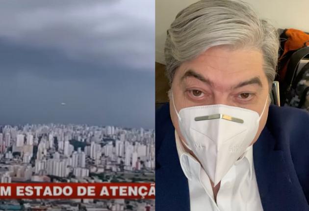 Datena comentou sobre suposta aparição de um óvni no Brasil Urgente