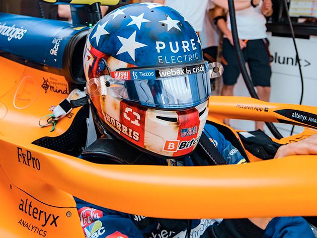 """Norris admite evolução da Ferrari, mas garante que McLaren vai """"lutar até o fim"""" no mundial de F1"""