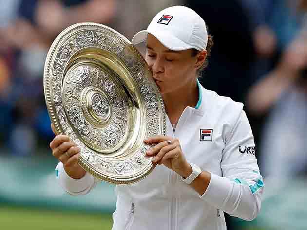 Barty derrota Pliskova e é campeã de Wimbledon pela primeira vez