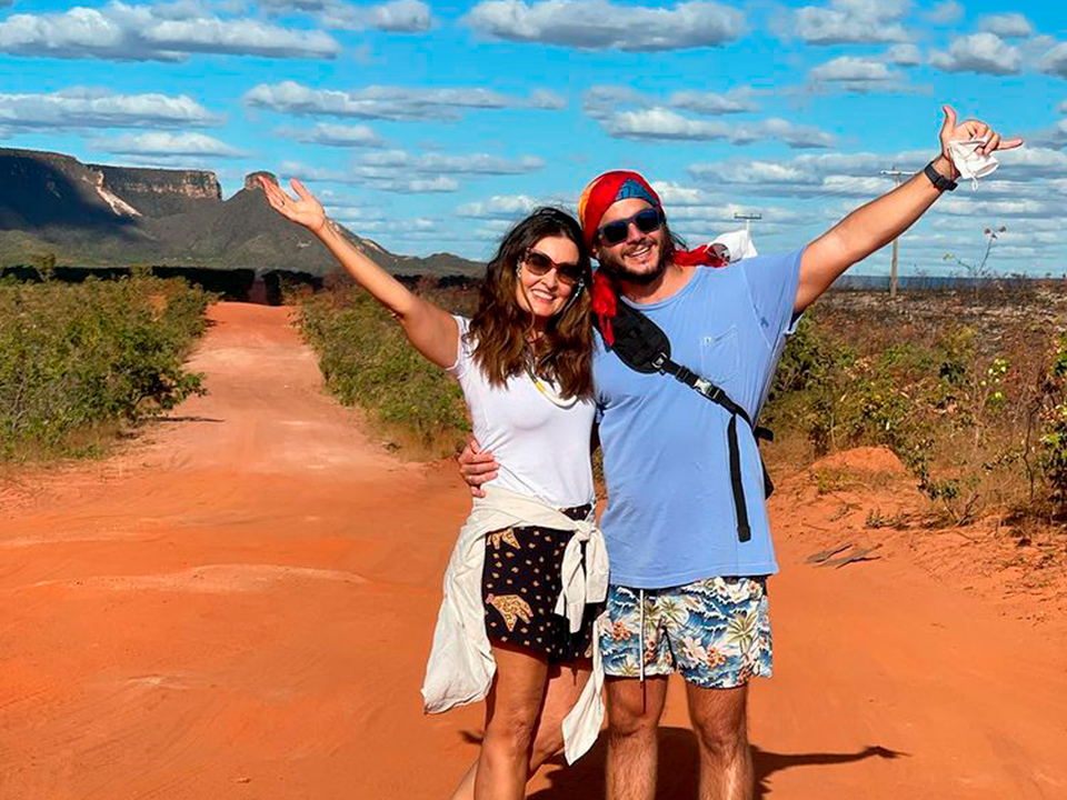 Fátima Bernardes curte férias no Jalapão com Túlio Gadêlha
