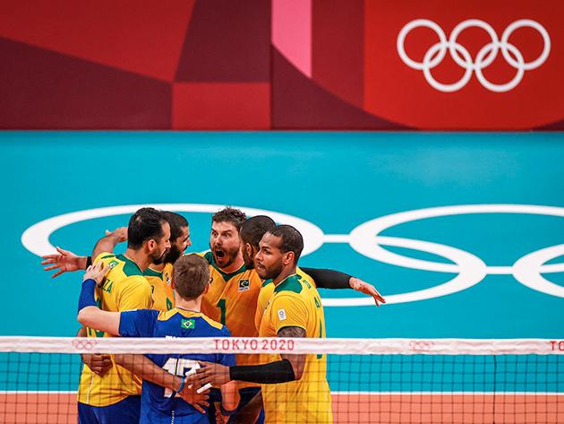 Brasileiros venceram com parciais de 25/22, 37/39, 25/17, 21/25 e 20/18