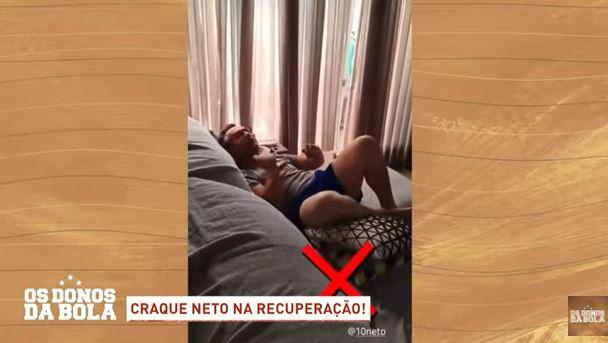 Em recuperação, Neto comemora título do Flamengo e provoca Velloso