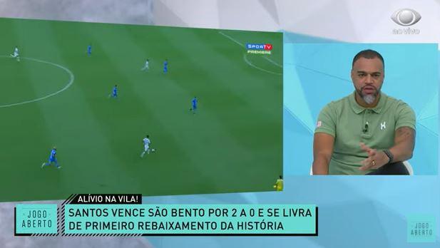 """Denílson deseja sorte a Diniz após Santos """"passar vergonha"""" no Paulista"""