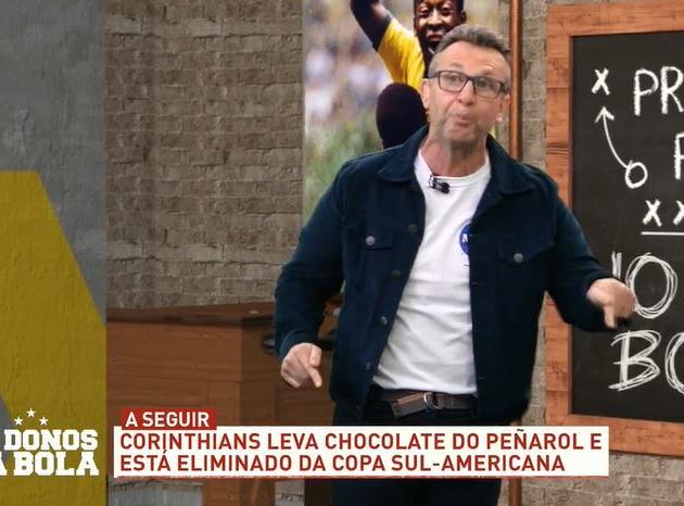 """Neto se revolta com goleada: """"Estão acabando com o Corinthians"""""""