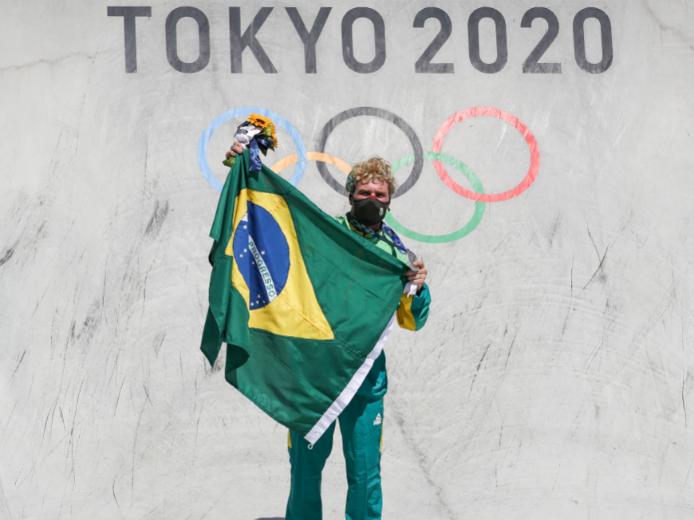Pedro Barros foi prata no skate park dos Jogos Olímpicos