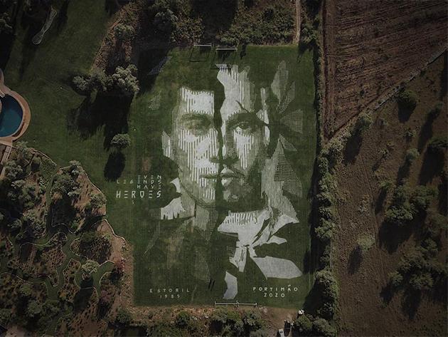 Senna e Hamilton são homenageados por artista português em Portimão