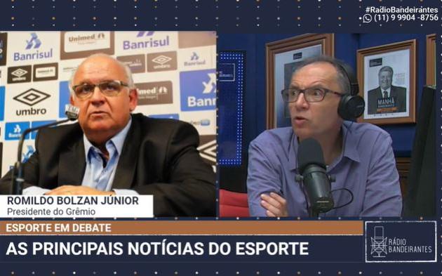 Presidente do Grêmio diz que não há negociação com Douglas Costa e critica River