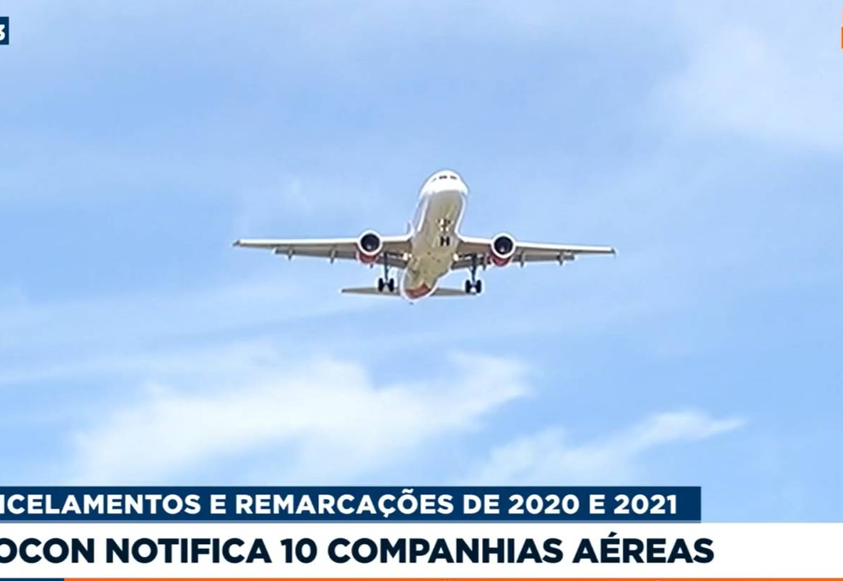 Procon notifica 10 companhias aéreas sobre regras de passagens na pandemia