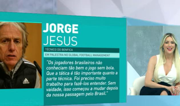 """""""Ele não inventou a bola"""": Jogo Aberto repercute declaração de Jorge Jesus"""
