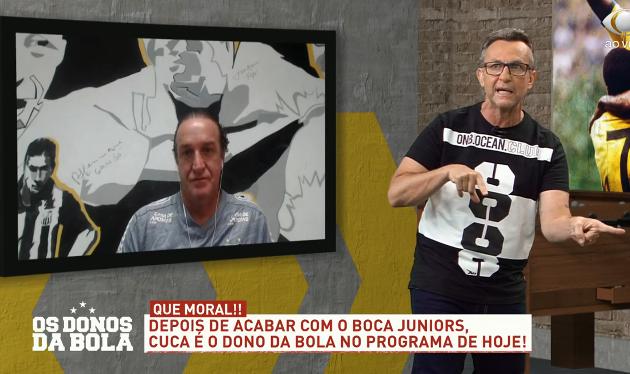 """Cuca brinca com """"poupança"""" financeira no Santos e cita Paulo Nobre no Palmeiras"""