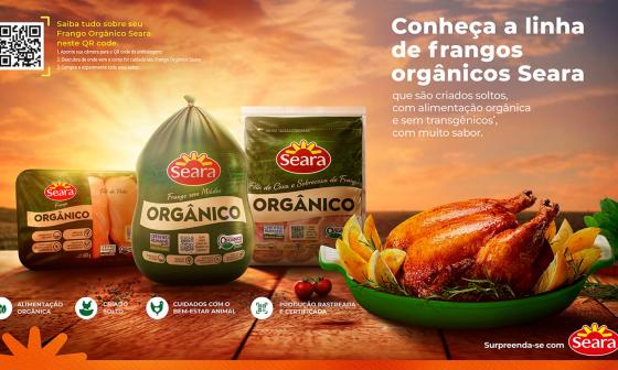 Seara destaca produção de frango orgânico no Brasil