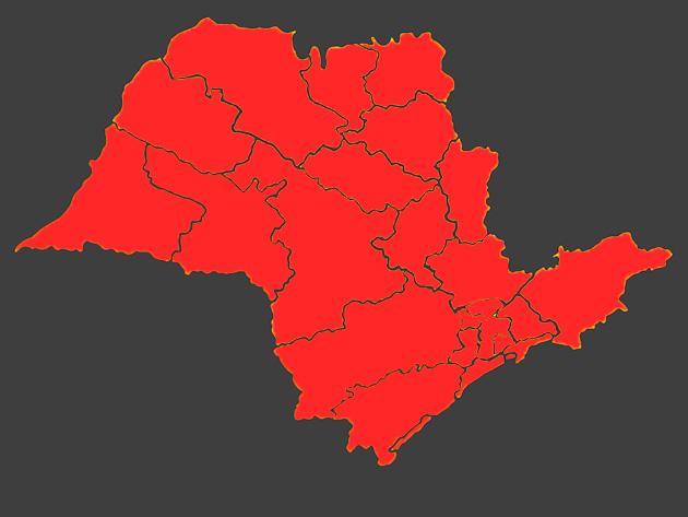 Todo Estado de São Paulo entra na fase vermelha no sábado