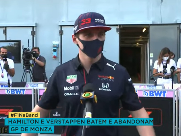 "F1: Verstappen sobre batida com Hamilton: ""Ele me espremeu"""