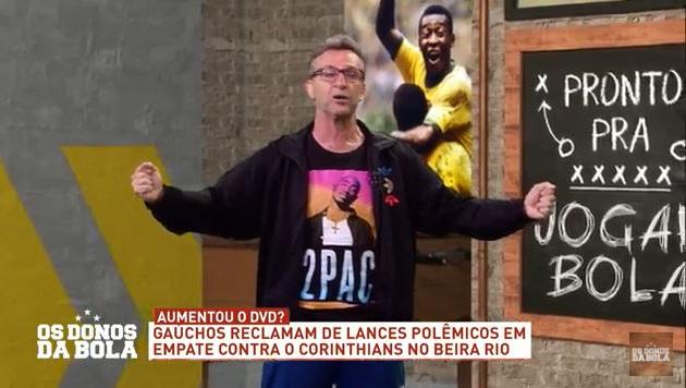 """Neto diz que Inter não foi campeão por incompetência: """"Choram igual criança"""""""