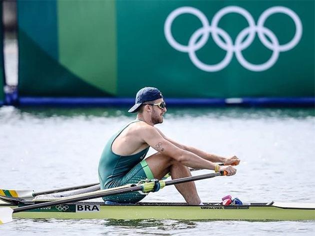 Lucas Verthein avança às semifinais do remo skiff simples em Tóquio-2020