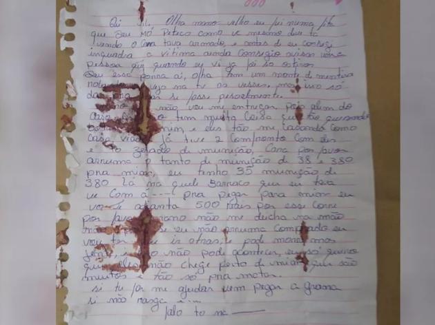 Polícia Civil afirmou que a carta e outros aspectos indicam que Lázaro não estava agindo sozinho.