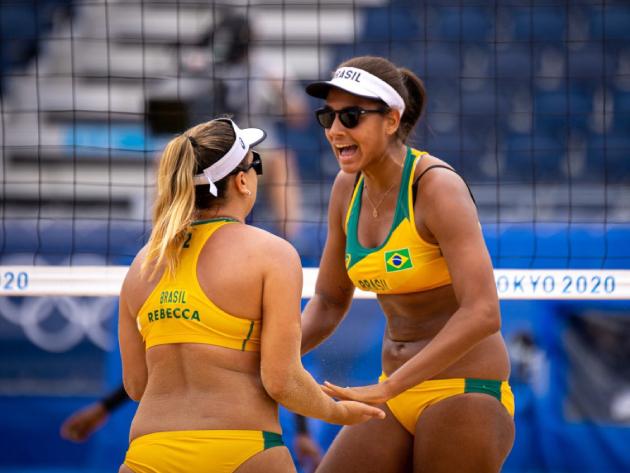 Brasileiras eliminaram dupla que estava invicta na competição