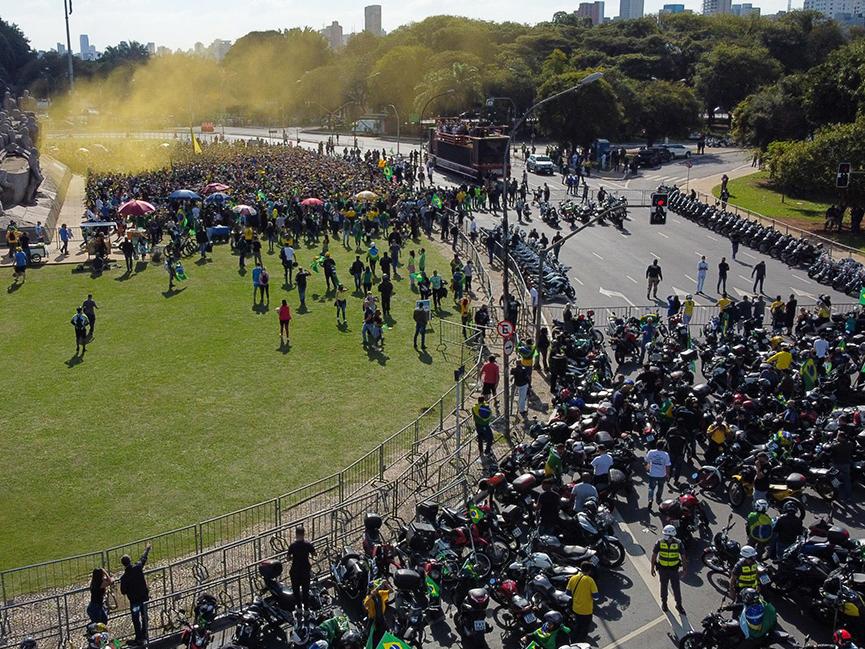 Esquema de segurança necessário para 'motociata' custou R$ 1,2 milhão, diz Governo de SP