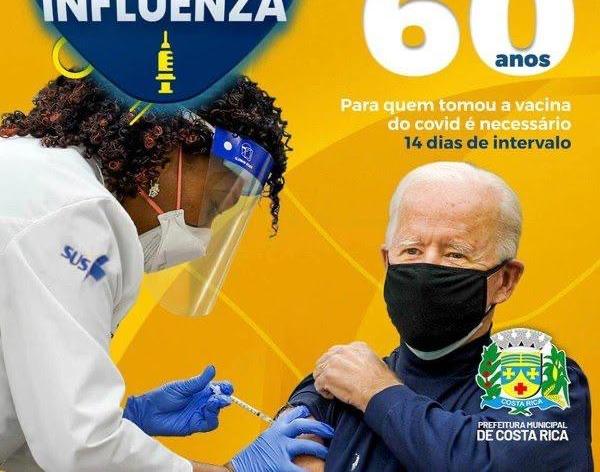 Cidade do MS usa imagem de Joe Biden em campanha de vacinação
