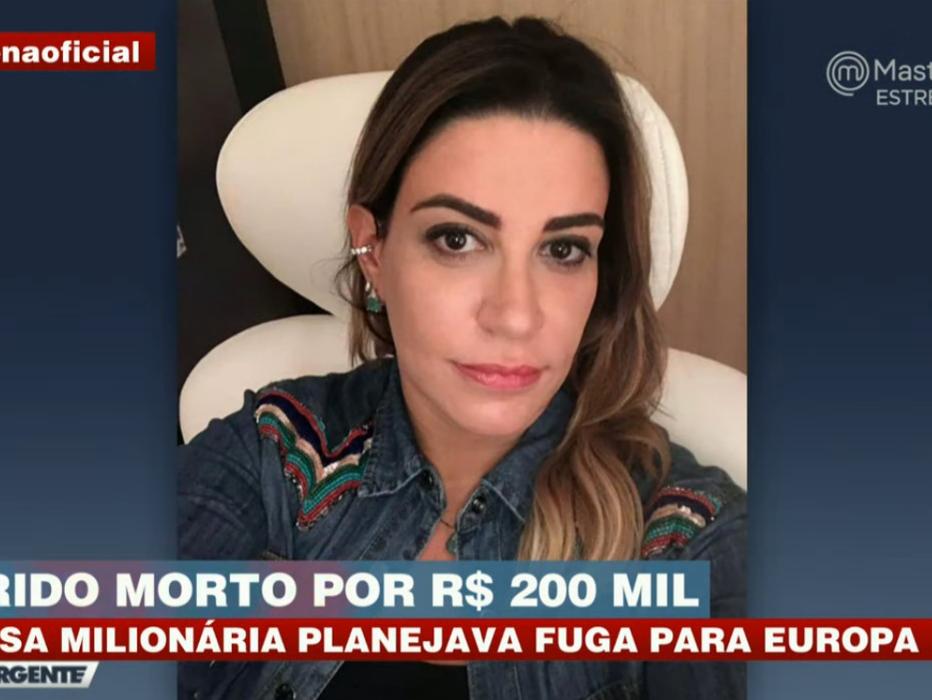 Anne Cipriano Frigo, suspeita de mandar matar o namorado, jantou em restaurante de luxo após o crime
