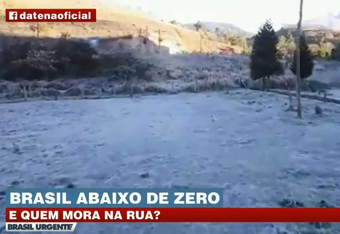 Onda de frio deve derrubar as temperaturas e provocar neve e geada no Brasil