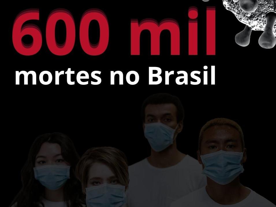 Brasil atinge a marca de 600 mil mortes pela Covid-19