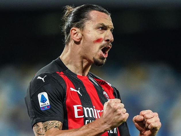 O Milan de Ibrahimovic lidera o Italiano com 46 pontos