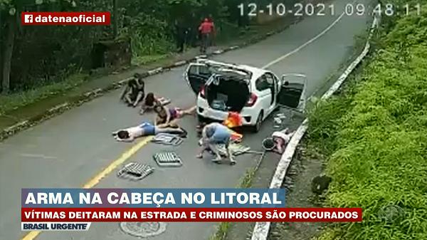 Polícia tenta localizar bandidos que fizeram arrastões no Guarujá