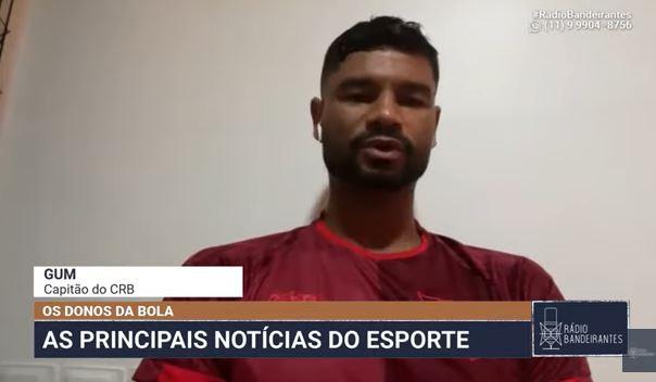 """Gum comemora classificação heroica do CRB: """"Não caímos na pressão"""""""