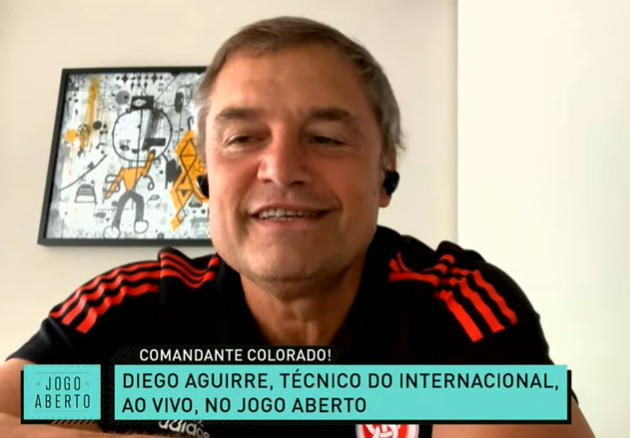 Aguirre faz surpresa para Renata Fan e comemora bom momento do Inter