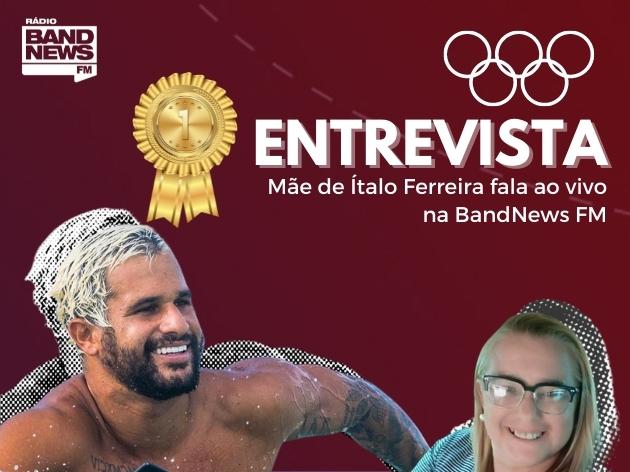 """Mãe de Italo Ferreira vibra com a conquista do ouro e prepara 'cuzcuz' para o campeão: """"Só esperando ele chegar"""""""