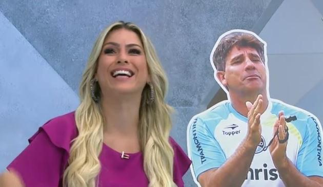 Renata Fan se despede de Renato Gaúcho após saída do Grêmio: 'Futebol vai ficar menos fanfarrão'