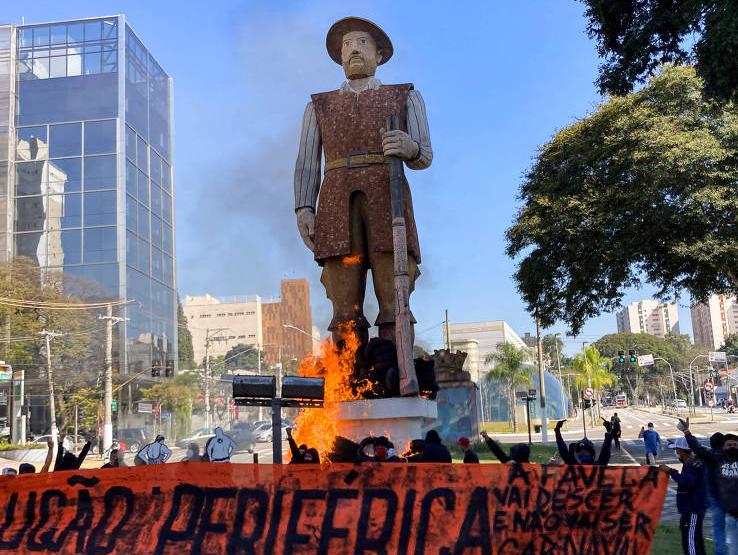 Estátua do bandeirante Borba Gato terá a restauração paga por um empresário que não teve a identidade divulgada.