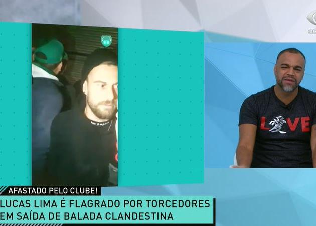 """Renata e Denílson criticam Lucas Lima após flagra em festa: """"Tudo errado"""""""