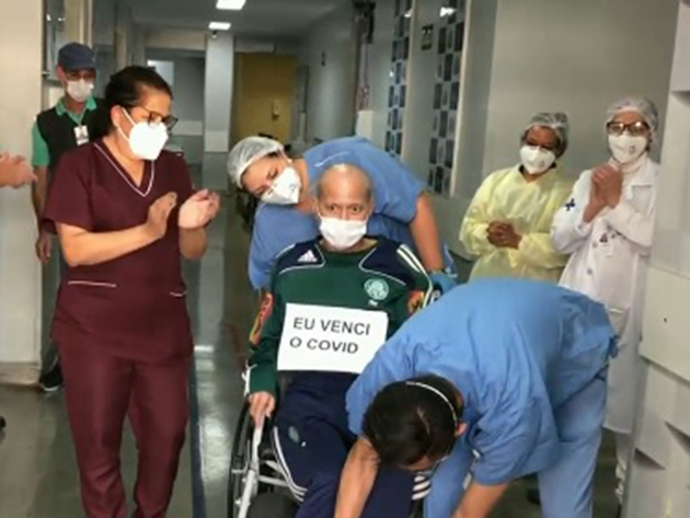 Depois de 136 dias internado por causa da Covid-19, homem tem alta em São Paulo