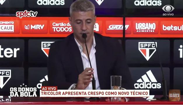 """""""Acho que o Crespo veio para o clube errado"""", diz Souza"""