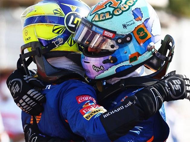 """Norris: """"Estou feliz pela vitória do Ricciardo. Terei minha chance no futuro"""""""