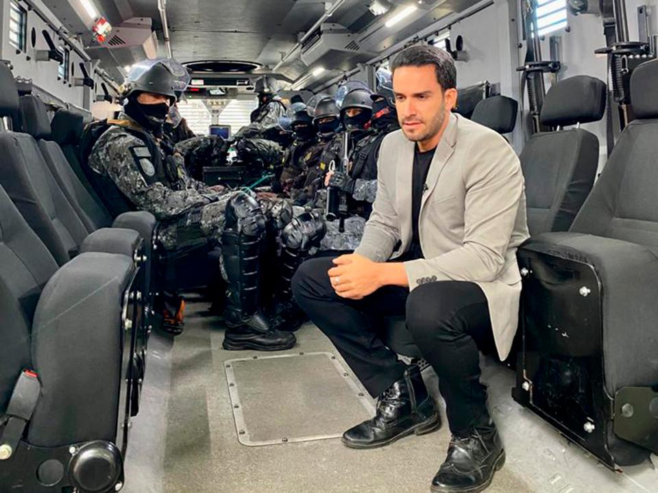 João Paulo Vergueiro acompanha ações das forças de segurança no Linha de Combate