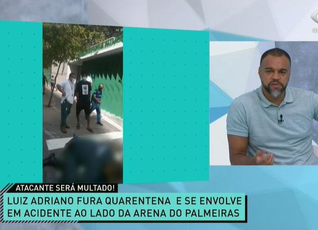 """Denílson defende multa do Palmeiras e critica """"irresponsabilidade"""" de Luiz Adriano"""
